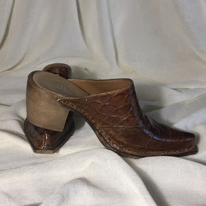 Mia Leather Mule Made in Italy